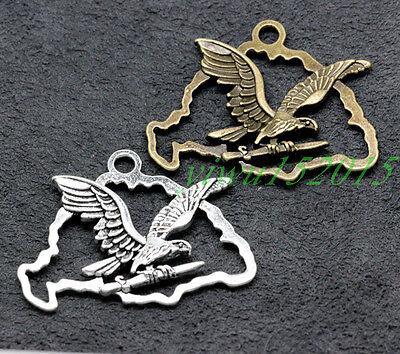Tibetan silver charm pendant Treasure  Freedom Eagle necklace 2-50pcs 5.4g