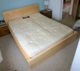 Ikea Malm double bed and matress