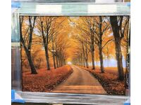 Autumn scene mirror framed picture superb be quick