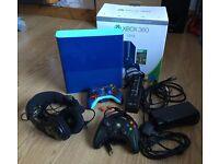 Xbox 360 bundle (limited edition blue 500gb)