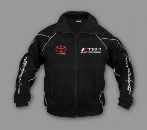 New Man TOYOTA TRD T-Sport RACING Fleece Jacket Fool Zip Embroidered