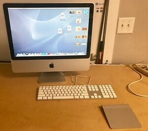 "Used Apple iMac A1224 20"" desktop computer, works great!"