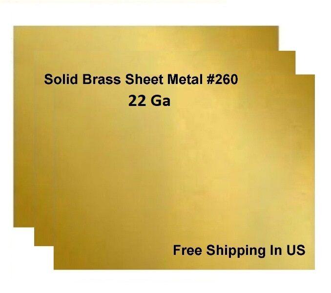 как выглядит Товар для металлообработки 22 Ga Brass Sheet Metal, Choose Size from Variations ,available 14 Sizes фото