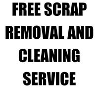 FREE SCRAP REMOVAL AND BARN & GARAGE CLEANING