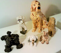 Dog figurine collection