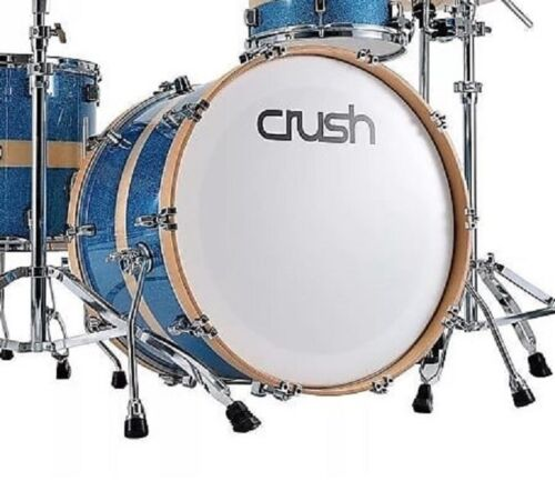 """Crush Drums Sublime Birch 18"""" Bass Drum/HG Sparkle Blue with Natural Stripe/NEW"""