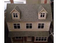 Large Dolls House; furniture and lights included