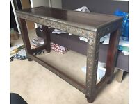 Beautiful side/ hall table with metal detailing