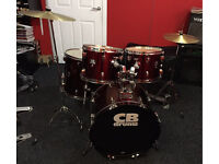 CB Acoustic Drum Kit with stands, cymbals and sticks