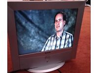 #Open to offer# Small flat TV Pc monitor - for caravan bedroom office study