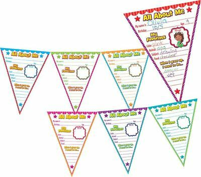 TCR 5578 All About Me Pennants Bulletin Board Set Classroom Decoration (About Bulletin Board Set)