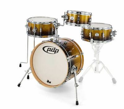 PDP by DW Doppelbassdrum Drumset Concept Maple Red to Black Sparkle Schlagzeug