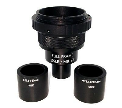 Full Frame 2x Microscope Adapter For Nikon Dslr Fits 23.2mm 30mm 30.5mm Ports