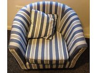 2 Seater Sofa & matching tub chair with cushion