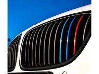 BMW Kidney Grille M Sport Colour Stripes Sticker Decal M3 M5 M6 1 2 3 4 5 Series