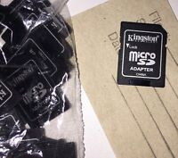 MicroSD adapters. To use with MicroSD cards-must read