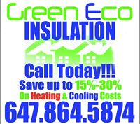 GreenEco Insulation Save on Residiential Cooling & Heating Cost!