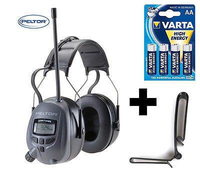 Digital PELTOR 29db Radio Gehörschutz Kopfhörer mit MP3 Anschluss + sattem BASS