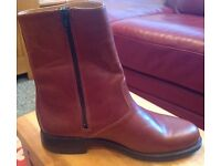 New Argentine brown leather men's jodhpur style boots