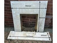 Marble fire surround and plinth