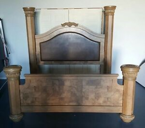 REDUCED! Like new King Ashleigh 4 Column Bed Frame
