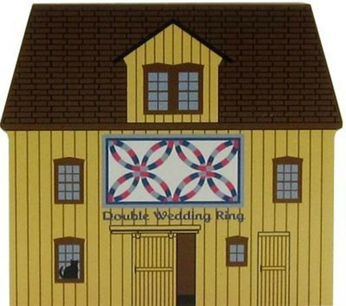 Cat's Meow Village Double Wedding Ring Quilt Barn #14-513 Shipping Discounts