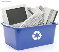 Electronic recycling computers printers wires ect,+