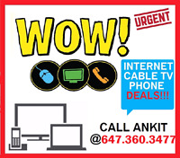 INTERNET SPECIAL,  UNLIMITED INTERNET & CABLE TV,  PHONE,