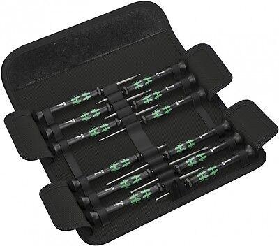 WERA Kraftform Micro Elektroniker-Schraubendrehersatz + Gürteltasche, 12-teilig