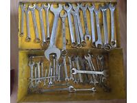 Spanners and metal tool box