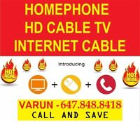 UNLIMITED INTERNET - CABLE TV AND PHONE $83.77 FREE INSTALL