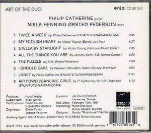 Niels Pederson & Philip Catherine - Art of the Duo West Island Greater Montréal image 2