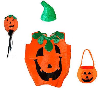 m Kinder Kürbiskostüm Kürbis Halloween Karneval Fasching Party (Kinder-kürbis-kostüm)