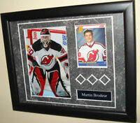 Martin Brodeur Plaque With Rookie Card