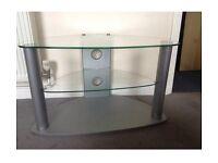 Glass 3 shelf TV unit