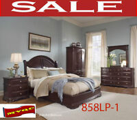 858LP-1, queen beds, dresser, night site tables new furniture