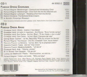 Famous Opera Choruses & Arias  - Vol. 1 & 2 (2 CDs) West Island Greater Montréal image 2