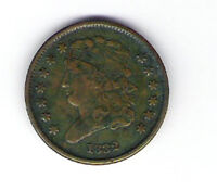 Coin 1832 USA Half Cent Half Penny