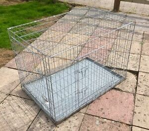 Large steel dog cage