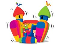 ** 50% off disco bouncy castle hire with built in speaker and lighting**