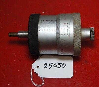 Scherr Tumico Micrometer Head 0-1 Inch Inv.25050