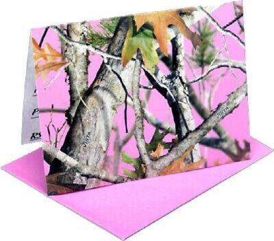 Next Pink Camo Party Invitations, Wedding Birthday Note Cards Stationary