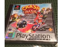 PlayStation 1 boxed game, manual, ps1 crash bandicoot