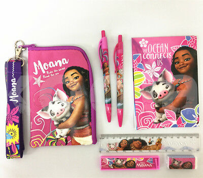Disney Moana Stationery Set Party Favor School Supplies w/ Badge Lanyard Bag](Hello Kitty Princess Party Supplies)