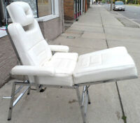 Vintage MASSAGE Chair w/ CHROME Frame ADJUSTABLE