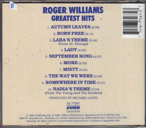 Roger Williams - Greatest Hits West Island Greater Montréal image 2