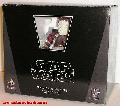 GENTLE GIANT 2008 STAR WARS GALACTIC MARINE Forbidden Planet MINI BUST In Stock