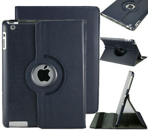 Black PU Leather 360 Rotating Case Cover for Ipad Mini 1 2 3 New