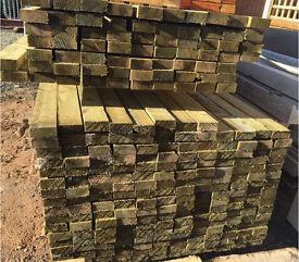 🌳Treated wood/timber 40 x 90 X 3.6m rails/lengths