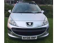 Peugeot 207 SW 2008 immaculate condition,ideal family car.